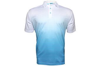 Palm Grove Fade Stripe Polo Shirt