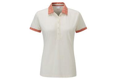 PING Ladies Adora Print Collar Polo Shirt