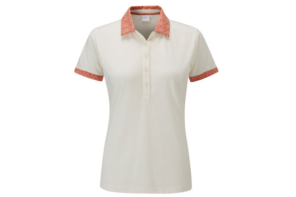 PING Ladies Adora Print Collar Polo Shirt