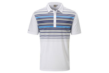 PING Cortes Striped Poloshirt
