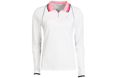 Calvin Klein Ladies Long Sleeve Pro Polo Shirt