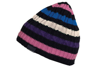 Green Lamb Doreen Striped Cable Ladies Beanie