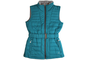 Calvin Klein Ladies Quilted Padded Green Body Warmer