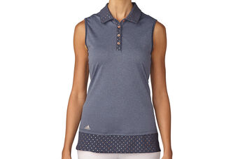 adidas Golf Printed Hem Ladies Polo Shirt