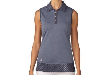 adidas Golf Printed Hem Poloshirt für Damen