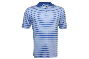 Palm Grove Striped Modal Polo Shirt