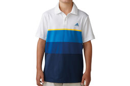adidas Golf Junior Engineered Stripe Polo Shirt