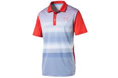 PUMA Golf Brushstripe Polo Shirt
