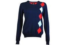 Palm Grove Diamond V-Neck Ladies Sweater
