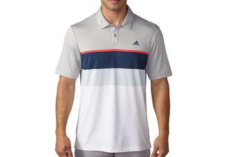 adidas Golf climacool Engineered Striped Polo Shirt