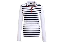GOLFINO Striped Dry Troyer Ladies Polo Shirt