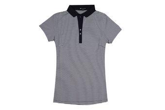 Palm Grove Sparkle Stripe Ladies Polo Shirt