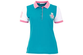 Green Lamb Cilla Crested Ladies Polo Shirt