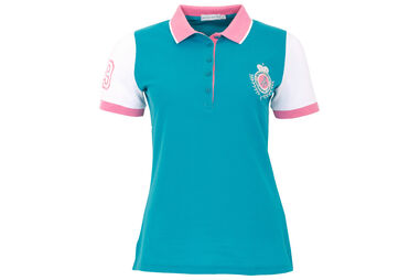 Green Lamb Ladies Cilla Crested Polo Shirt
