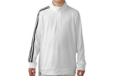 adidas Golf Junior 3 Stripes 1/4 Zip Sweater