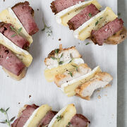 Smoked chicken and roast beef crostini, , hi-res
