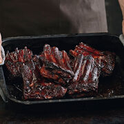 Chocolate balsamic glazed pork ribs, , hi-res