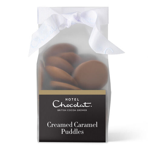 Creamed Caramel Chocolate Puddles, , hi-res