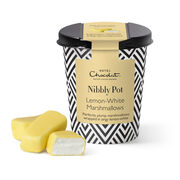 Lemon-White Marshmallow Nibbly Pot, , hi-res