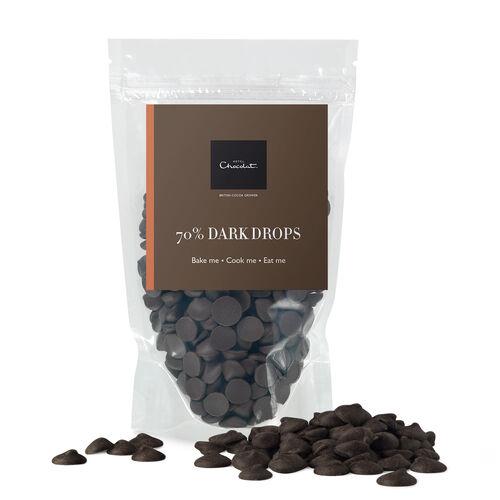 70% Dark Chocolate Drops, , hi-res