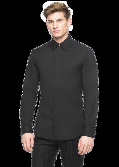 Medusa button stretch cotton shirt Shirts - Versace Abbigliamento