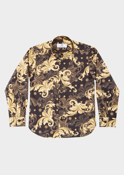 Baroque Print Shirt Junior Clothing  4 - 14 years - Young Versace