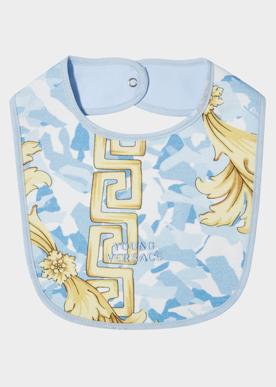 Baroque Bib Print Baby Bib Accessories - Young Versace