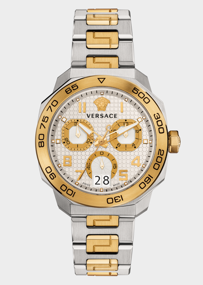 Dylos Chrono gold and steel Watches - Versace Preziosi
