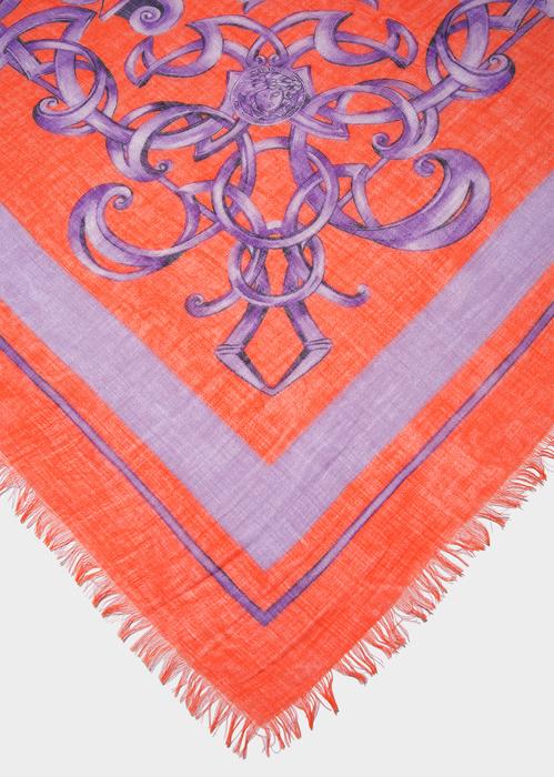 Barocco print Foulard I7115 - Versace Silk Accessories