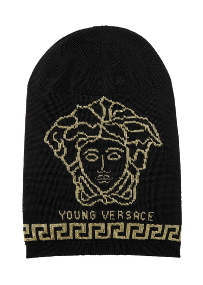 Beanie with Medusa and Greca motif Junior Accessories  4 - 14 years - Young Versace