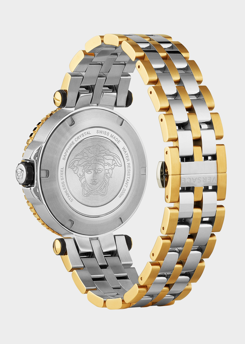 V-Race Diver Two-Tone Watch - Versace Watches