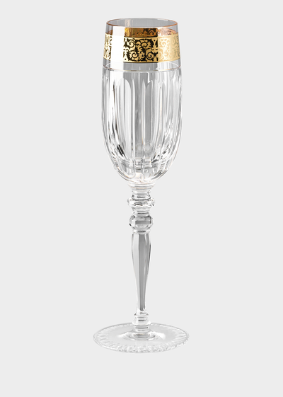 Versace home luxury glass crystal uk online store - Petite flute a champagne ...