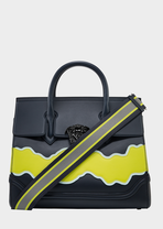 Palazzo Empire Wave Leather Bag - Versace Top Handle