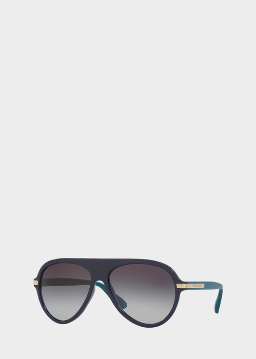 Blue Rounded Sunglasses ONUL - Versace