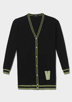 V Logo Cotton Blend Long Cardigan Heritage Capsule - Limited Edition - VERSUS