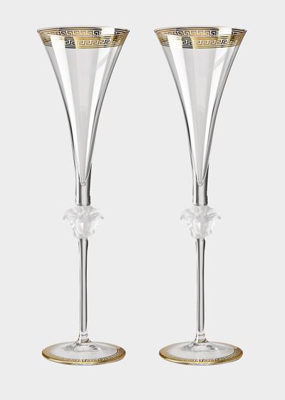 Medusa D'or Champagne flute set - Versace Glass & Crystal