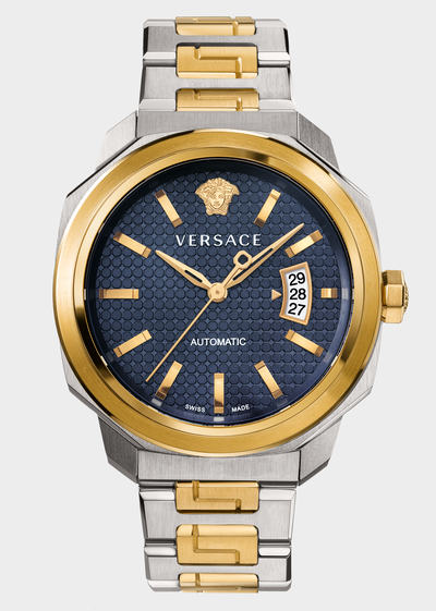 Dylos Blue Two-Tone Automatic Watch Watches - Versace Preziosi