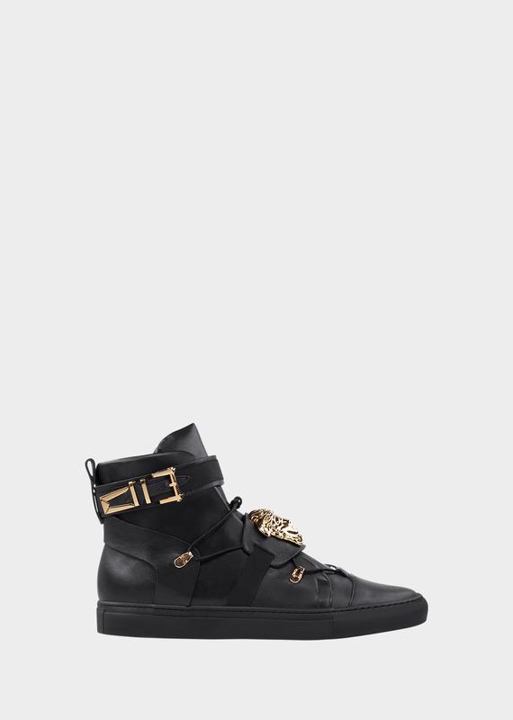 Elasticated High-Top Sneakers - Versace Sneakers