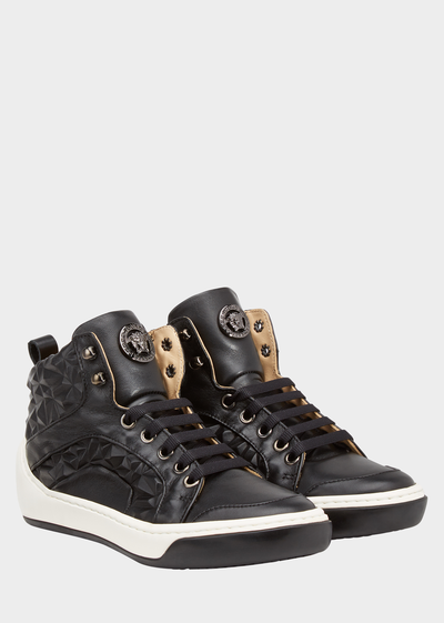 High Top Embossed Leather Sneakers Junior Accessories  4 - 14 years - Young Versace