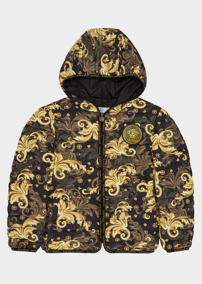 Baroque Print Puff Jacket Junior Clothing  4 - 14 years - Young Versace