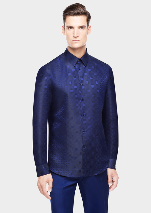Abstract Prince of Wales Shirt Shirts - Versace Abbigliamento