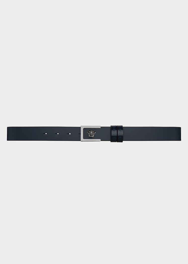 Leather Belt with Medusa Details - Young Versace Accessories