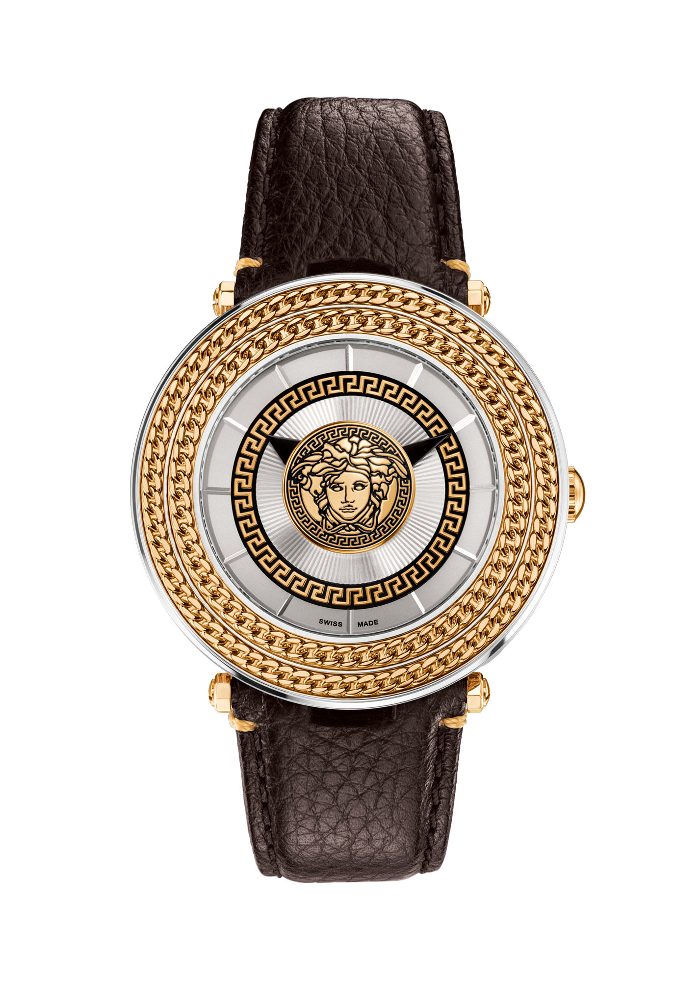 versace silver v metal icon 46mm for men us online store silver v metal icon 46mm versace watches