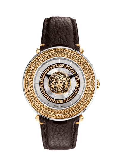 Silver V-Metal Icon 46MM Watches - Versace