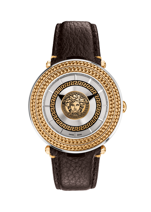 Silver V-Metal Icon 46MM - Versace Watches