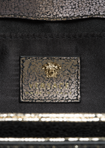 Palazzo Laminated Leather Handbag - Versace Shoulder Bags