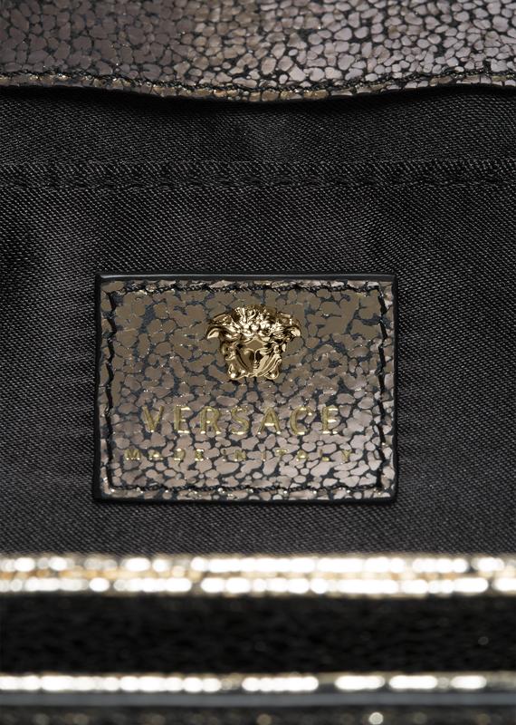 Palazzo Laminated Leather Handbag D86OC - Versace