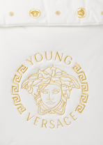 Embroidered Medusa Head Towel - Young Versace Accesories