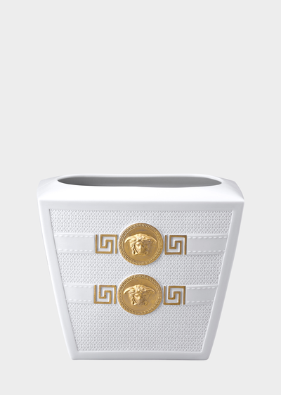 Signature White Vase 18 cm Vases - Versace