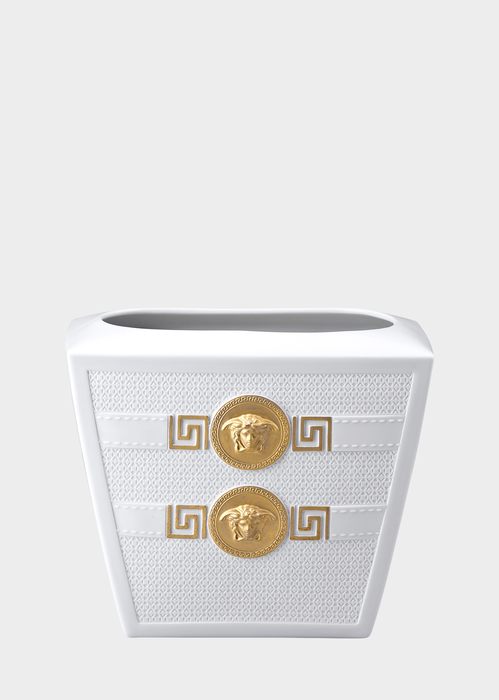 Signature White Vase 18 cm N1443 - Versace Porcellane e Cristalli